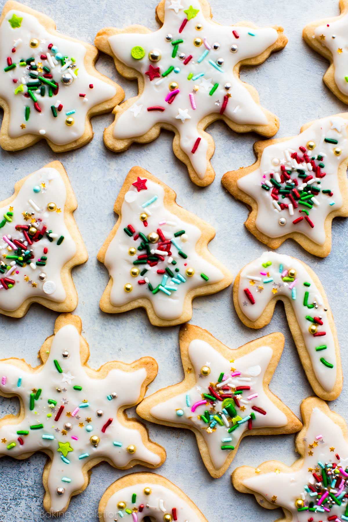 Icing Recipe For Sugar Cookies  Holiday Cut Out Sugar Cookies with Easy Icing Sallys