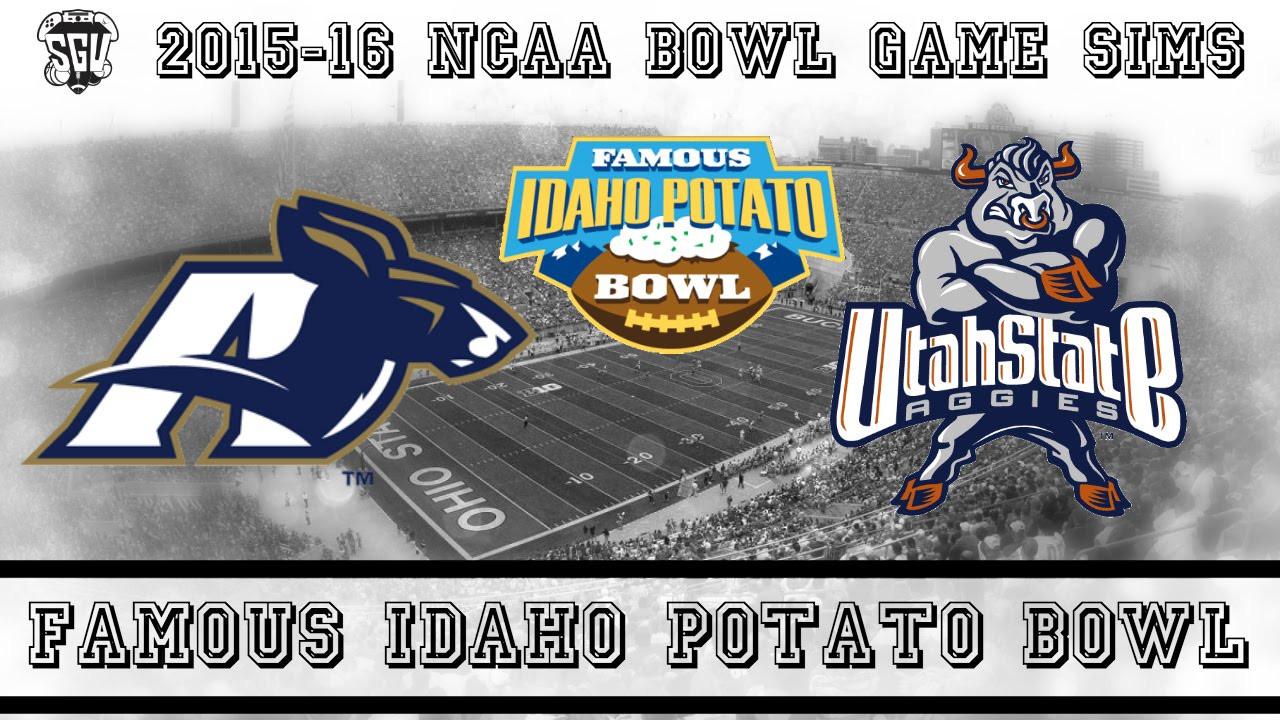 Idaho Potato Bowl  Famous Idaho Potato Bowl Sim Akron vs Utah State NCAA