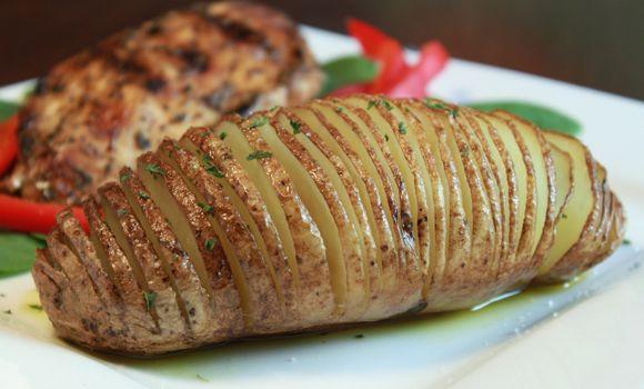 Idaho Potato Recipes  Idaho Hasselback Potatoes Recipe Average Betty