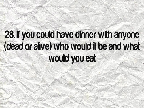 If You Could Have Dinner With Anyone  Blogtember Day 28 If you could have Dinner with Anyone