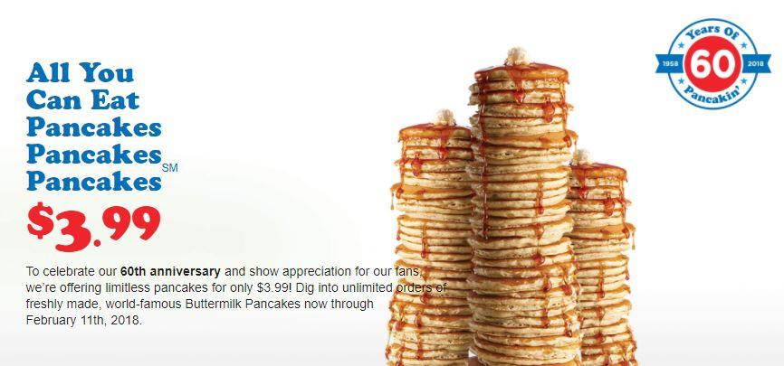 Ihop All You Can Eat Pancakes 2018  IHOP 60週年慶!鬆餅吃到飽只需$3 99~ Until 2 11 WaCowLA 哇靠 洛杉矶 Los
