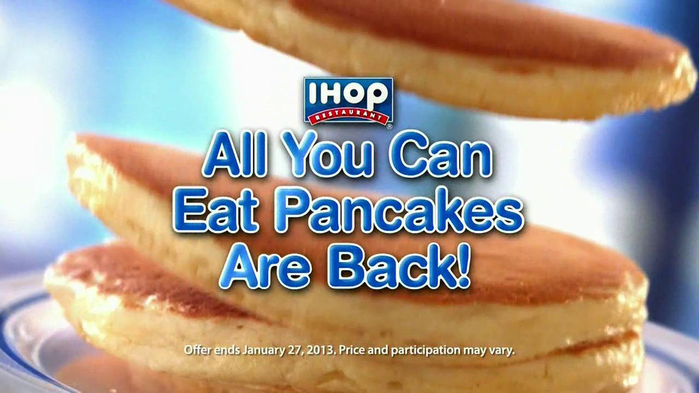 Ihop All You Can Eat Pancakes 2018  ihop unlimited pancakes