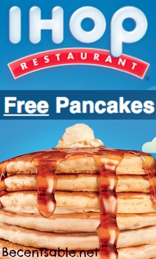 Ihop Free Pancakes  Marnie s NATURAL & ORGANIC Coupon a ram a FREE PANCAKE