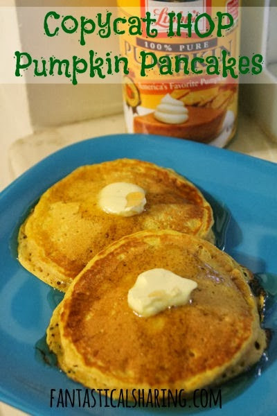 Ihop Pumpkin Pancakes  Fantastical Sharing of Recipes Copycat IHOP Pumpkin Pancakes