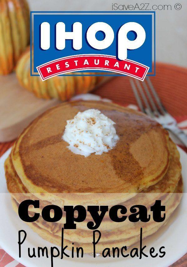 Ihop Pumpkin Pancakes  Copycat IHOP Pumpkin Pancakes iSaveA2Z
