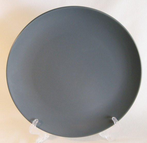 Ikea Dinner Plates  Ikea Sweden 2 Dinner Plates grey gray dark solid colored