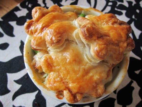 Ina Garten Chicken Pot Pie  mini chicken pot pies with flowers & star crusts