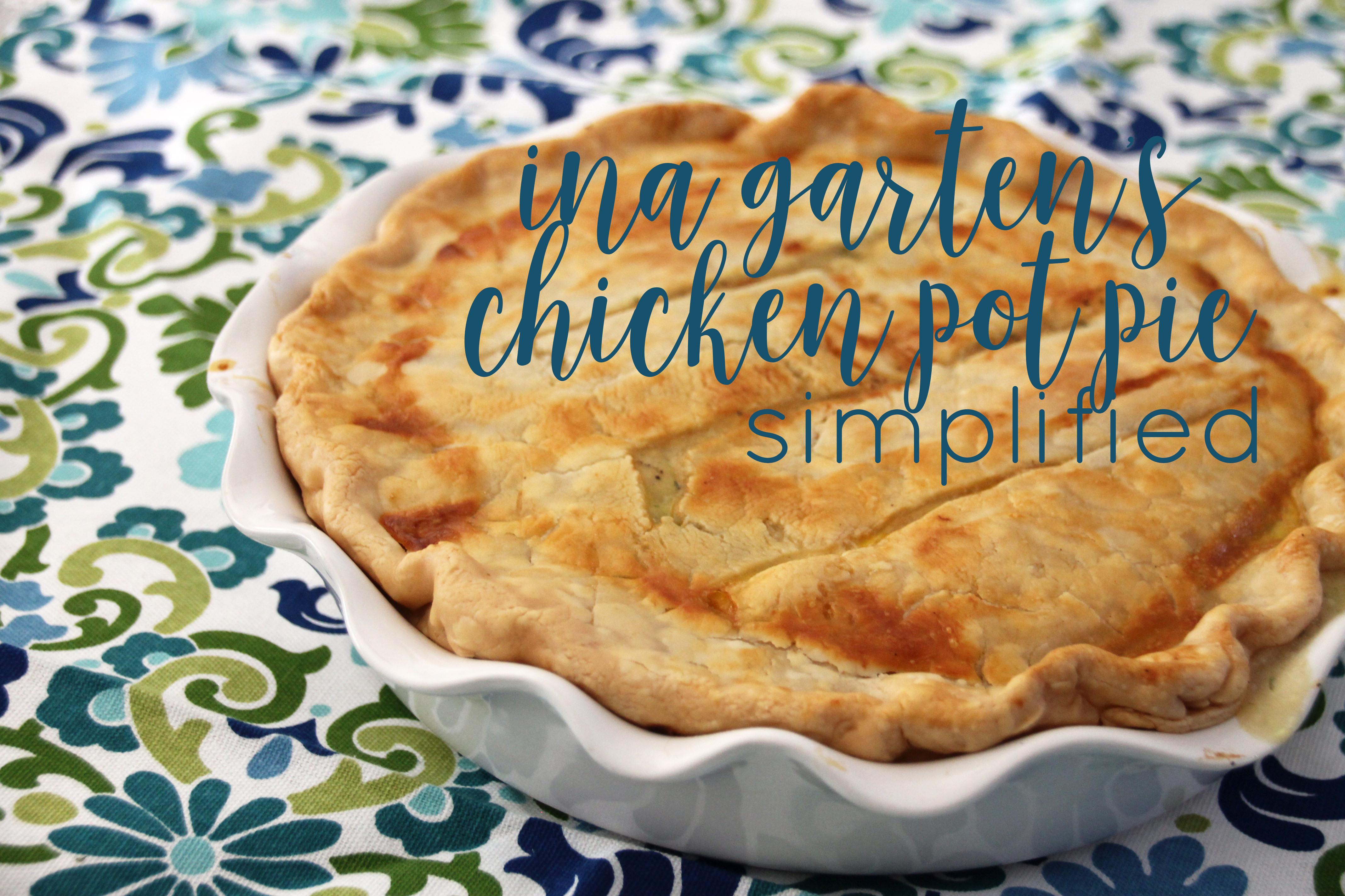Ina Garten Chicken Pot Pie  ina garten's chicken pot pie simplified