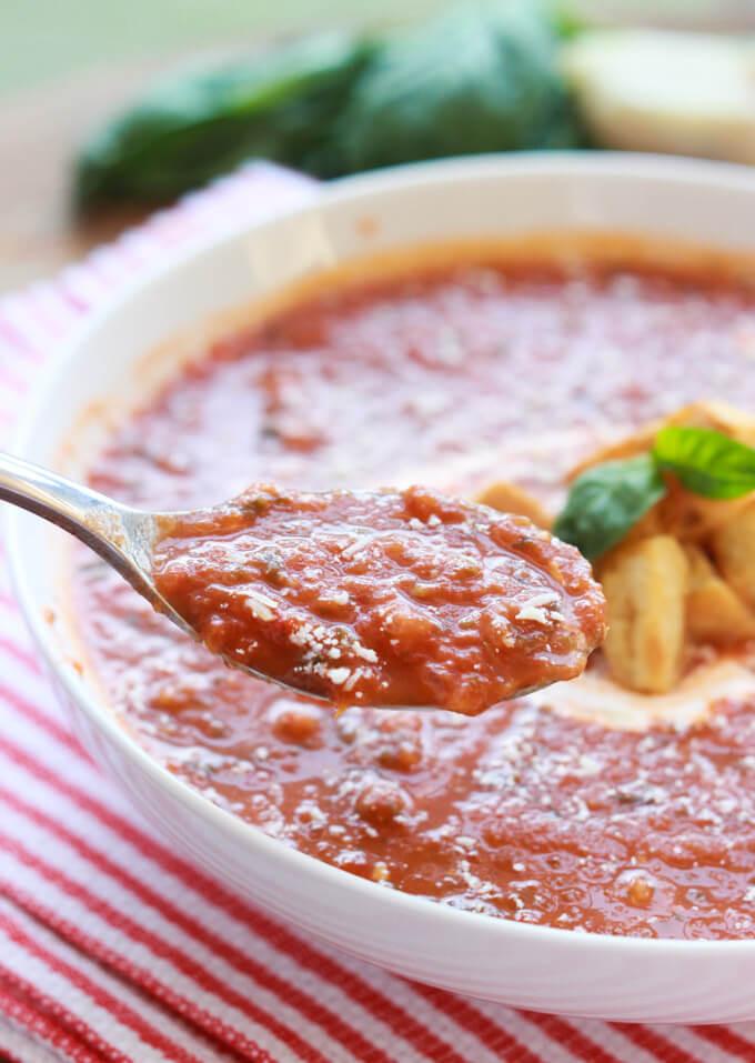 Ina Garten Tomato Soup  Ina Garten's Roasted Tomato Basil Soup