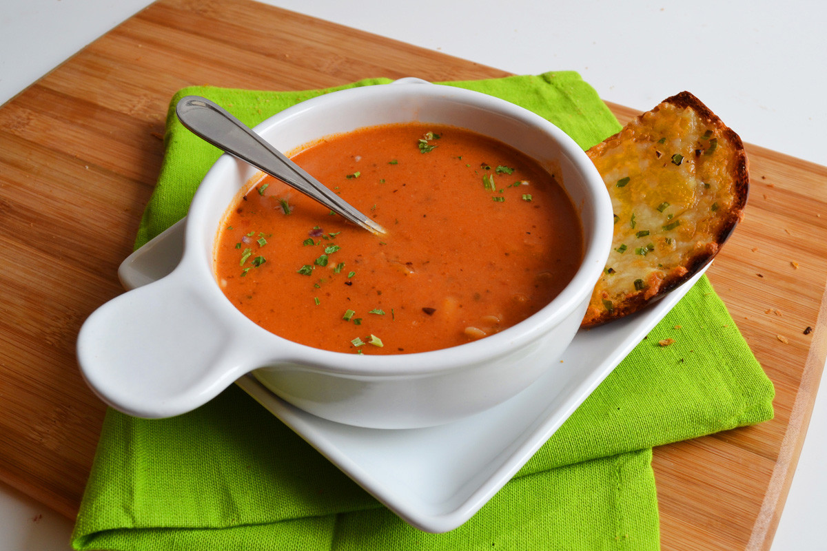 Ina Garten Tomato Soup  Tomato Soup with Orzo – baked by nicole