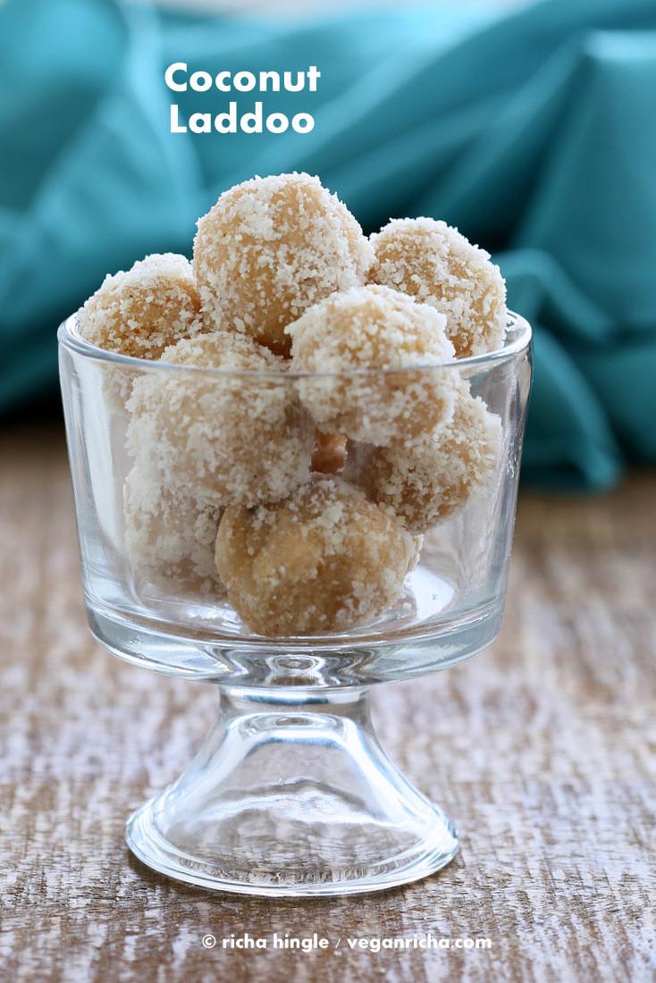 India Desserts Recipes  Fudgy Coconut Ladoo Vegan Indian Dessert Recipe Vegan Richa