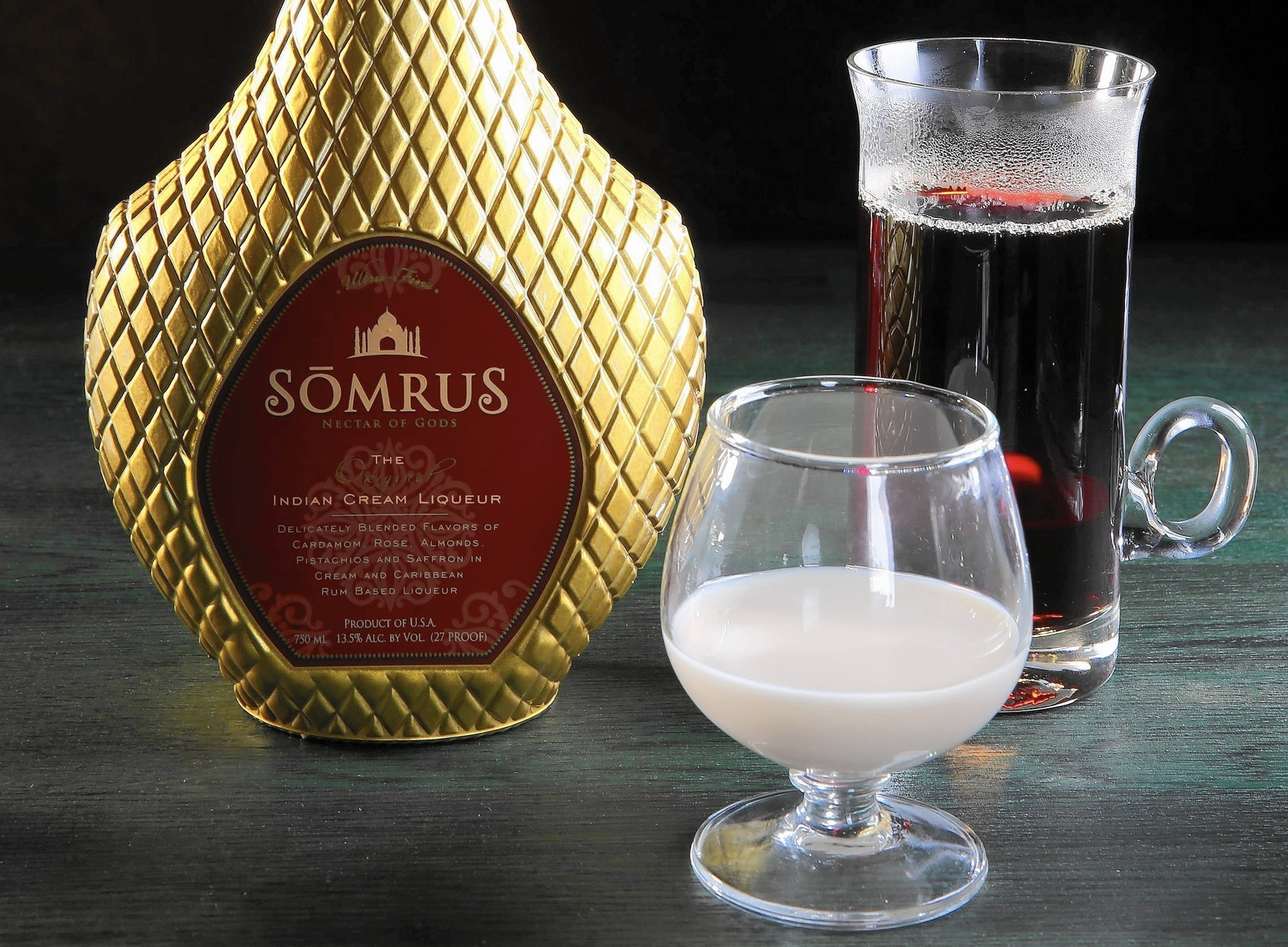 Indian Alcoholic Drinks  Flavors of Indian dessert captured in Somrus liqueur