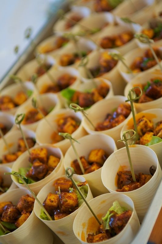 Indian Appetizers For Party  Tandoori paneer cups No recipe Just a great party idea