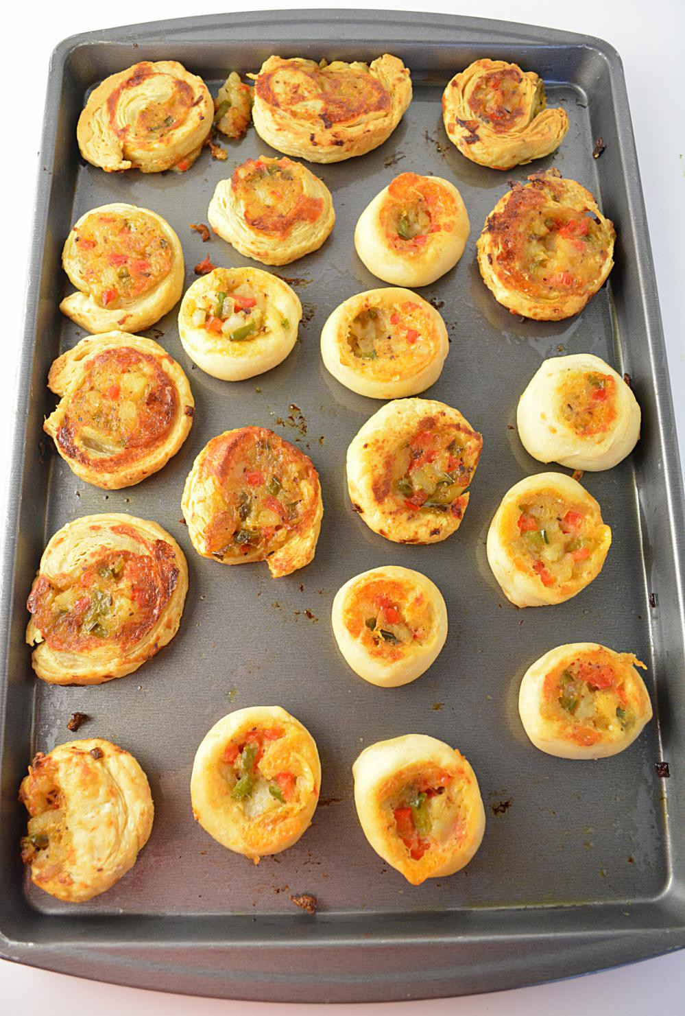 Indian Appetizers For Party  Veggie Pinwheels Party Appetizer Party potluck recipes