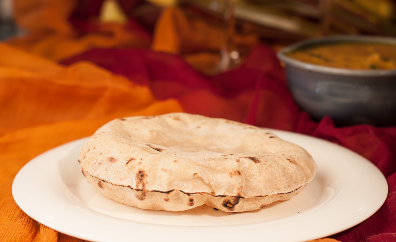 Indian Bread Recipe  Phulka Recipe Roti Chapati Puffed Indian Bread by