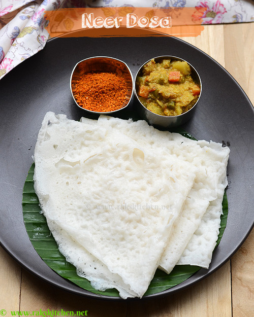 Indian Brunch Recipes  Neer dosa recipe South Indian breakfast recipes
