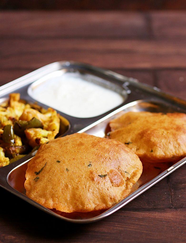 Indian Brunch Recipes  Potato poori recipe