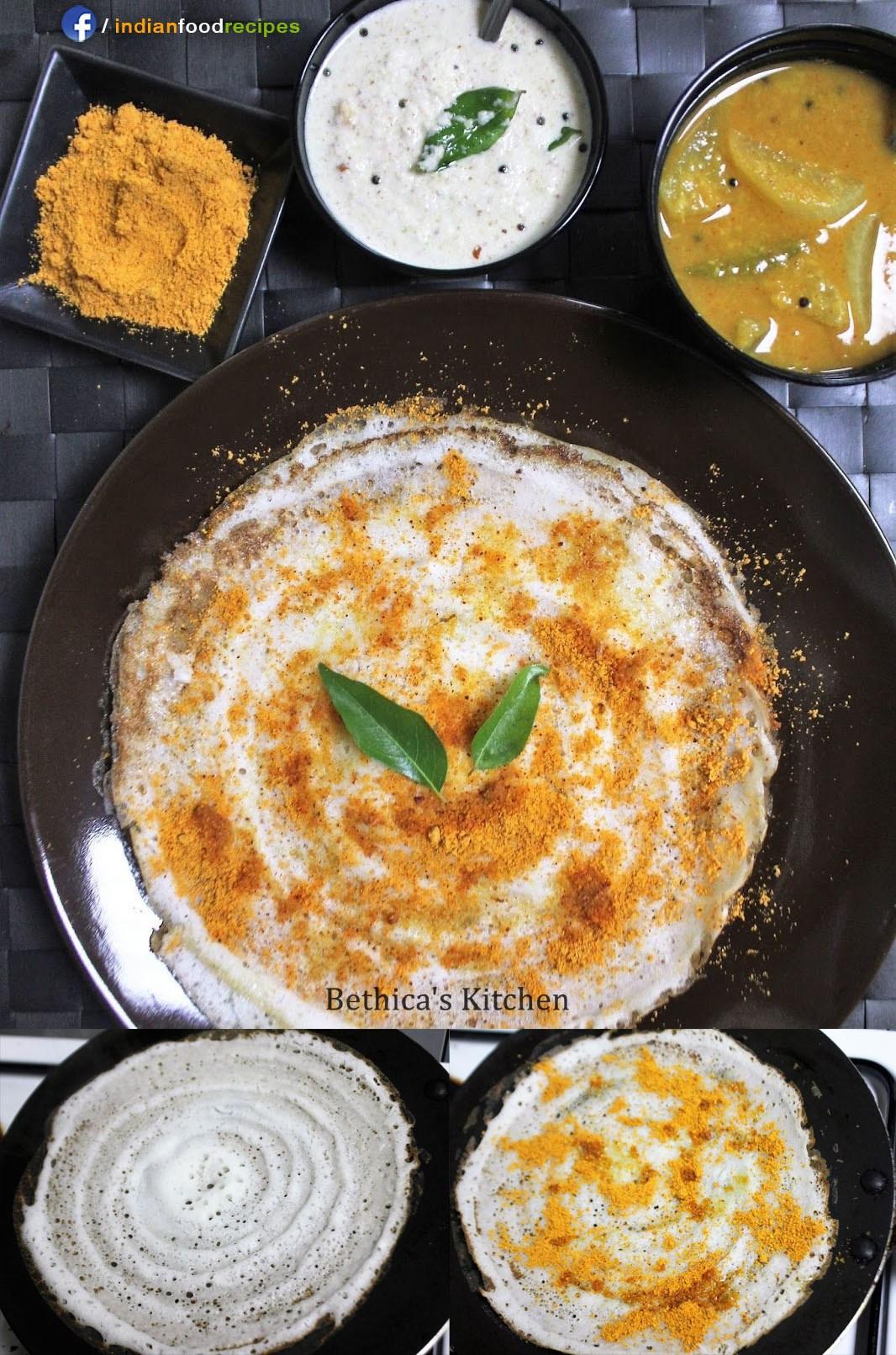Indian Brunch Recipes  Methi Leaves Dosa Fenugreek Leaves Pancakes recipe step