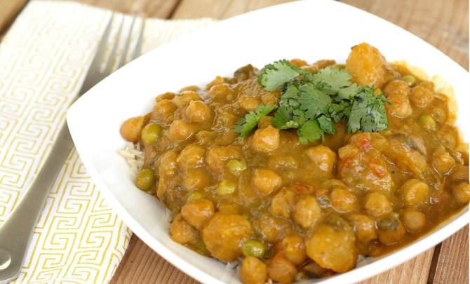 Indian Crock Pot Recipes  Crock Pot Butternut Squash & Chickpea Coconut Curry Recipe