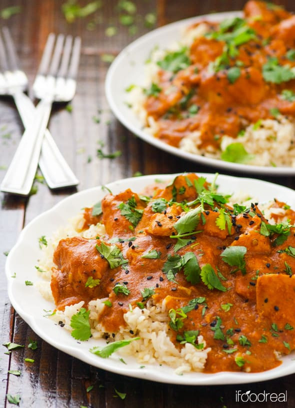Indian Crock Pot Recipes  ჱHealthy Crockpot Butter Chicken us25