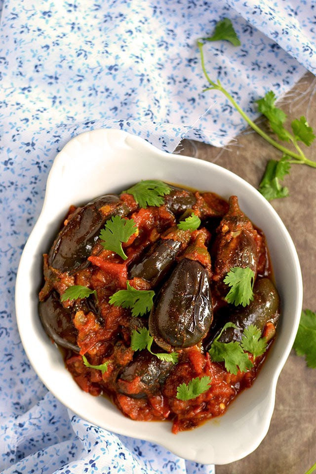 Indian Eggplant Recipes  Muvva Vankaya Kura Baby Eggplant Curry Recipe