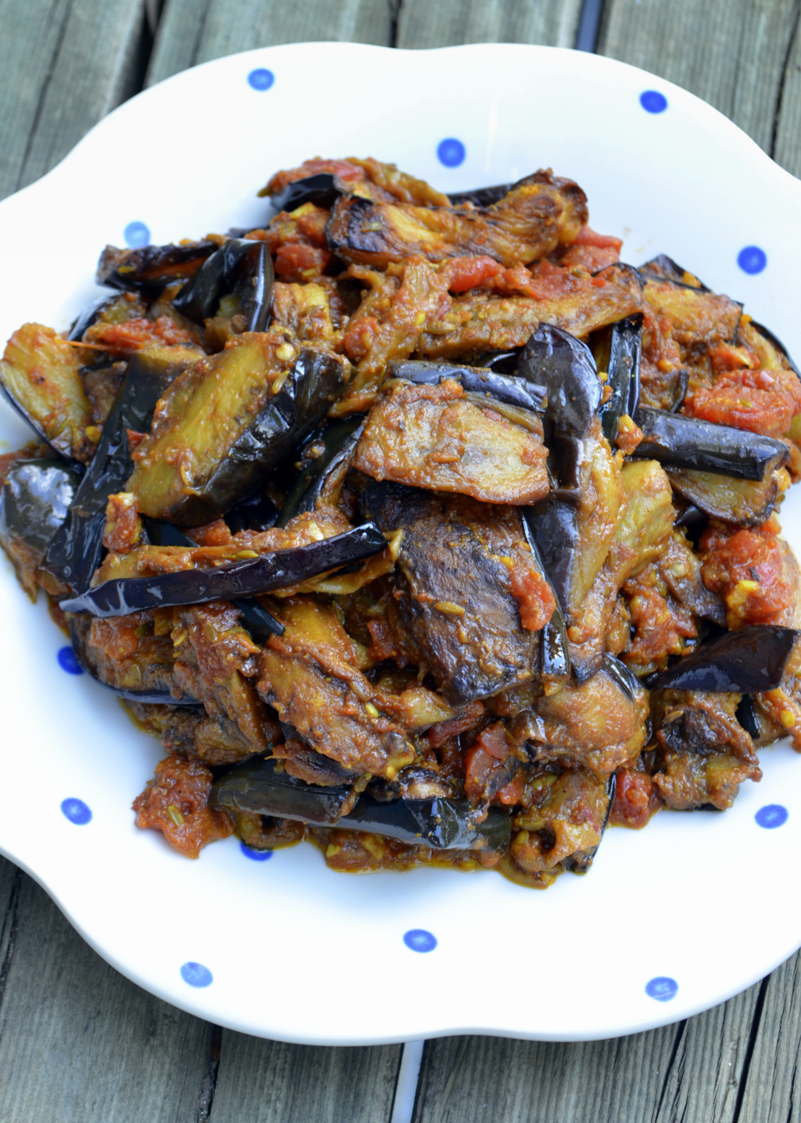 Indian Eggplant Recipes  Recipe Spicy Indian Eggplant with Tomatoes