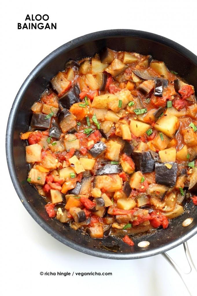 Indian Eggplant Recipes  vegan aloo baingan 1845 0011 681x1024