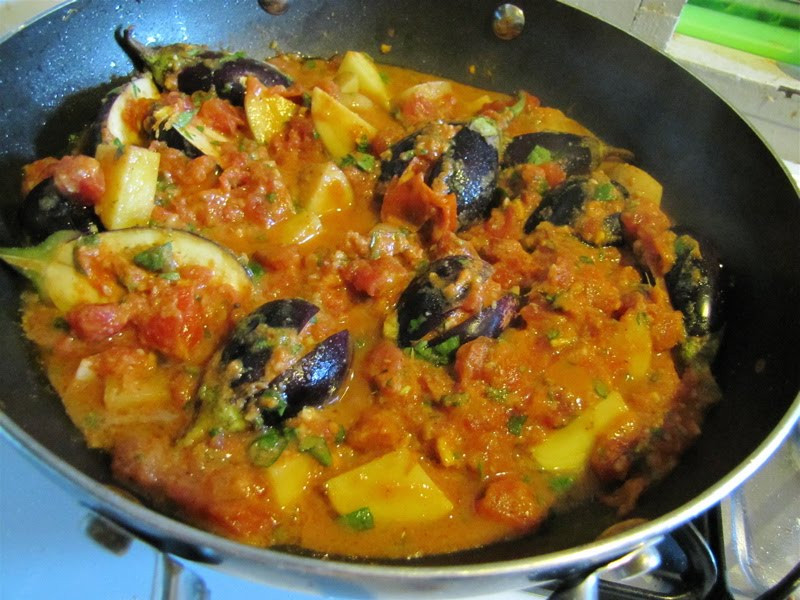 Indian Eggplant Recipes  Albion Cooks Indian Eggplant with Spicy Tomato Sauce
