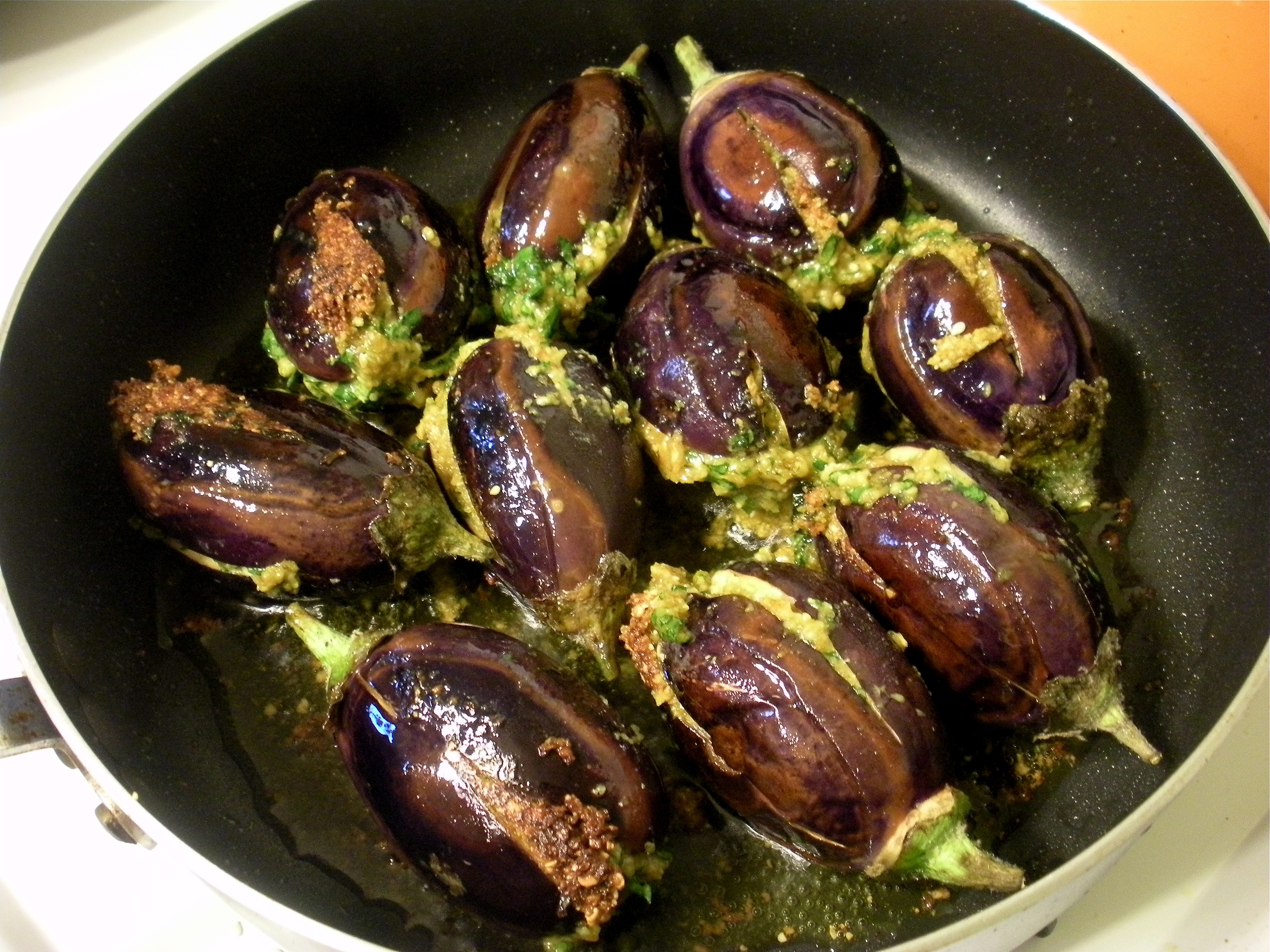 Indian Eggplant Recipes  Stuffed Indian Eggplant