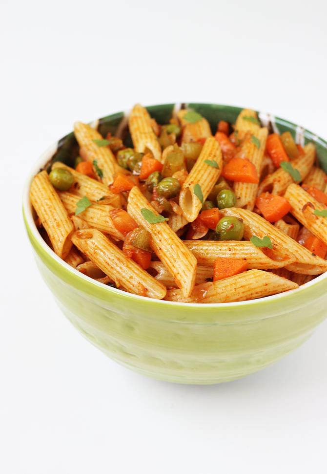 Indian Pasta Recipes  Masala pasta recipe Macaroni recipe for kids