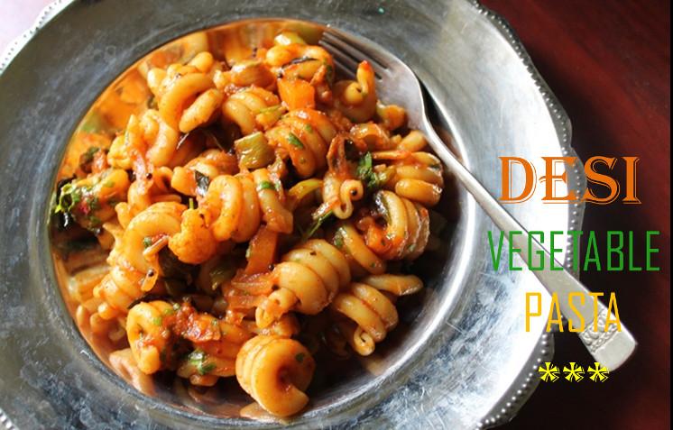 Indian Pasta Recipes  Desi Ve able Pasta Recipe Ve able Pasta Recipe