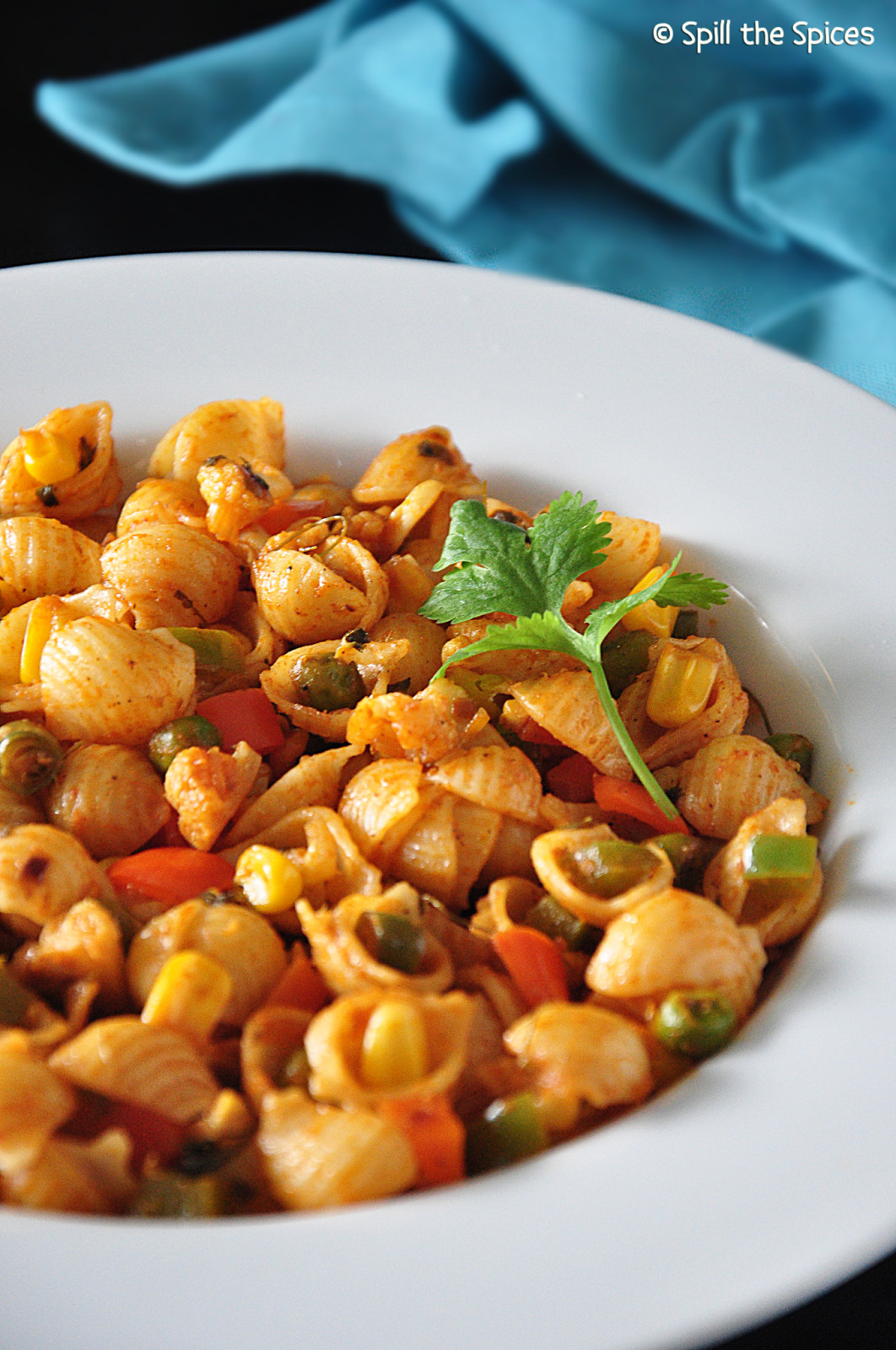Indian Pasta Recipes  Indian Style Ve able Masala Pasta