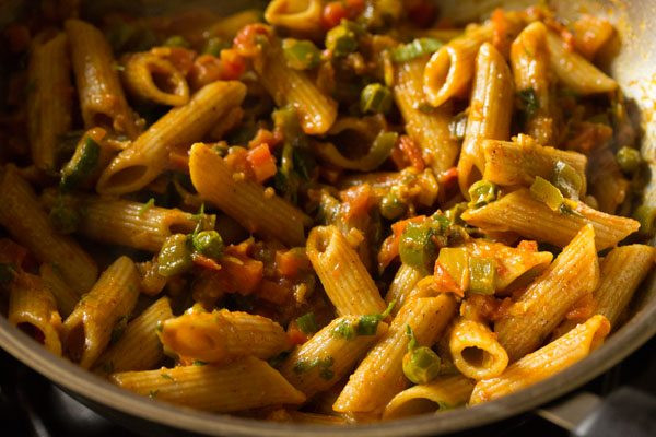 Indian Pasta Recipes  masala pasta recipe
