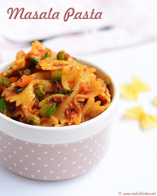 Indian Pasta Recipes  Indian style pasta Masala pasta recipe