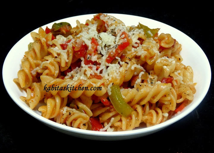 Indian Pasta Recipes  Kabita s Kitchen Ve able Cheesy Pasta Recipe Indian