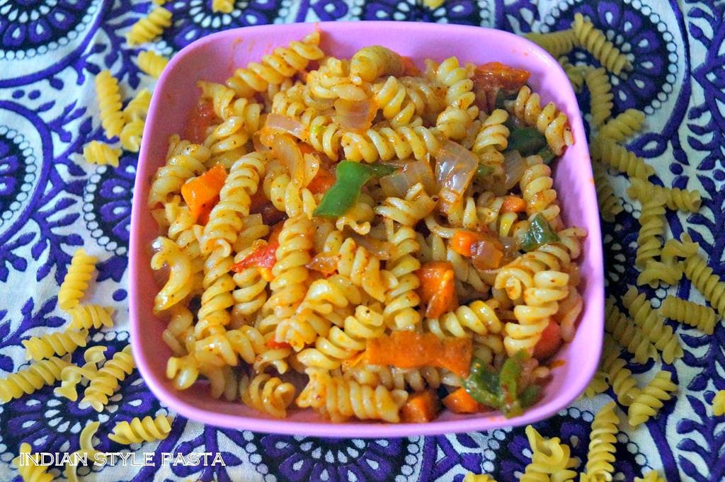 Indian Pasta Recipes  INDIAN STYLE PASTA Recipe