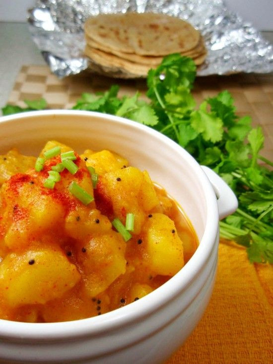 Indian Potato Recipes  Pressure Cooker Potato Curry Recipe – under 10 mins