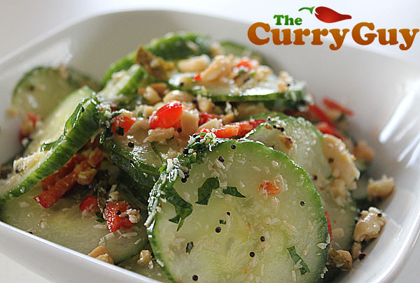 Indian Salad Recipes  Indian Cucumber Salad by The Curry Guy