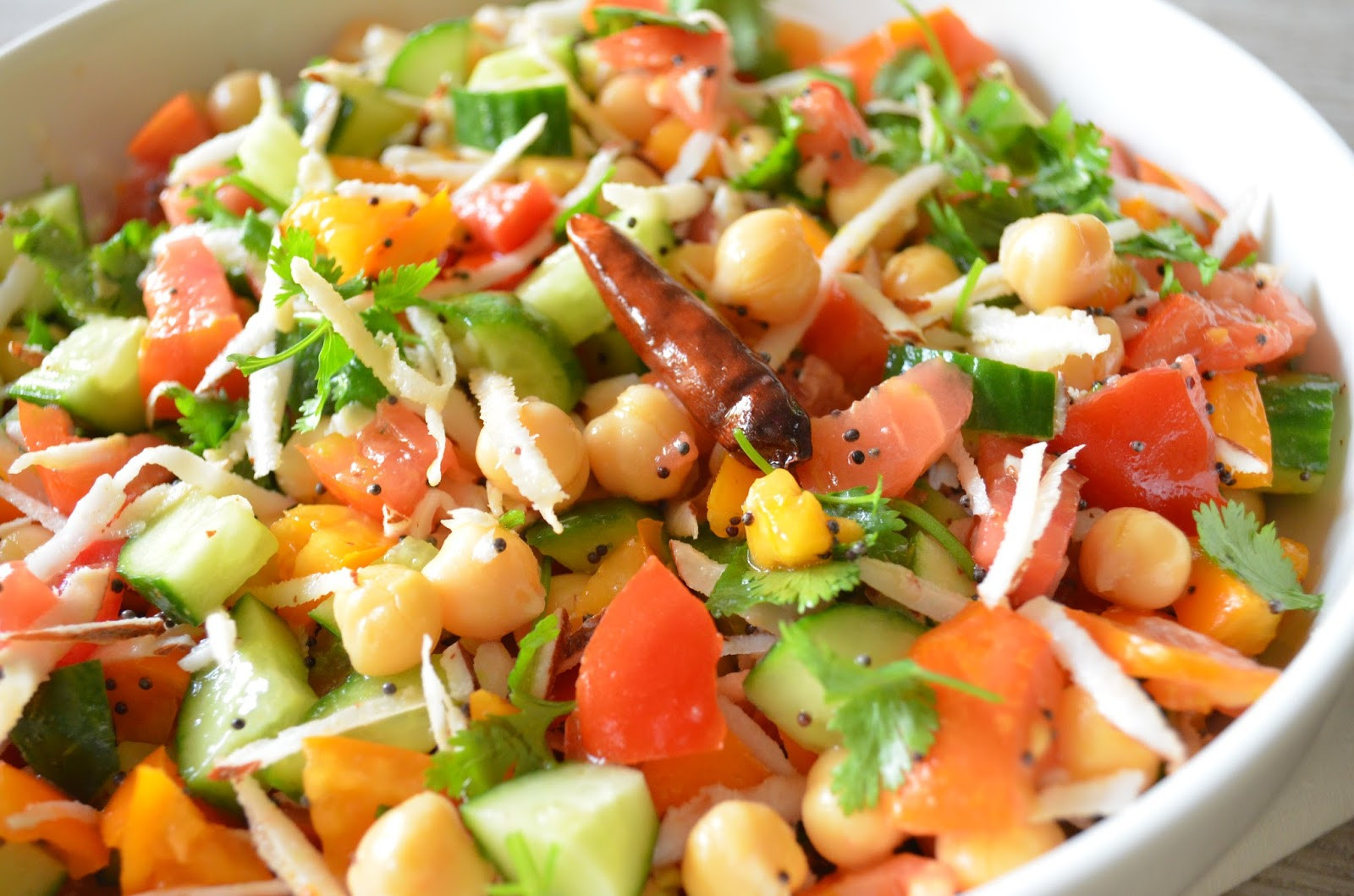 Indian Salad Recipes  Entertaining From an Ethnic Indian Kitchen Garbanzo