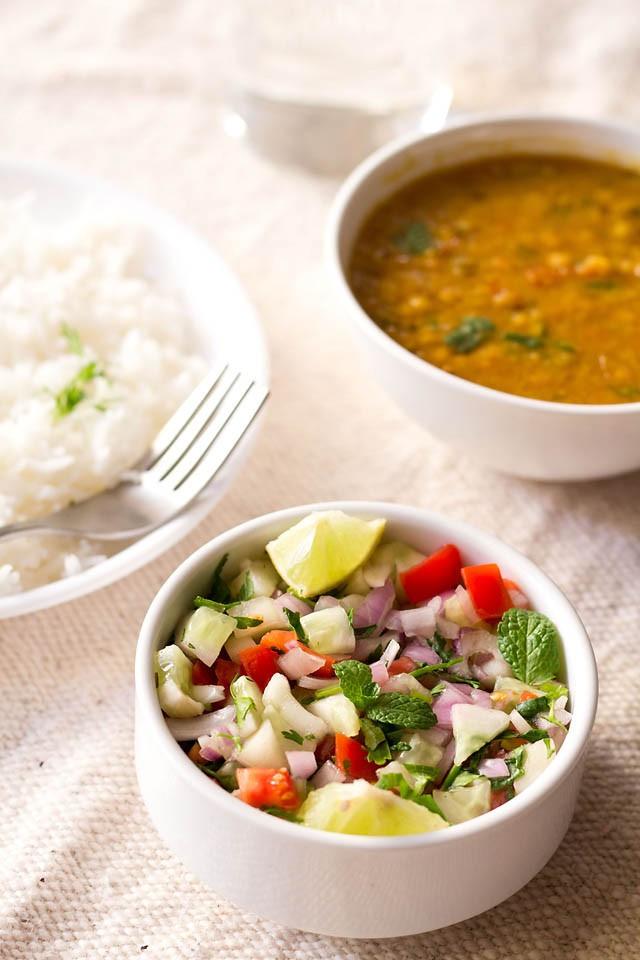 Indian Salad Recipes  kachumber salad kuchumber salad recipe