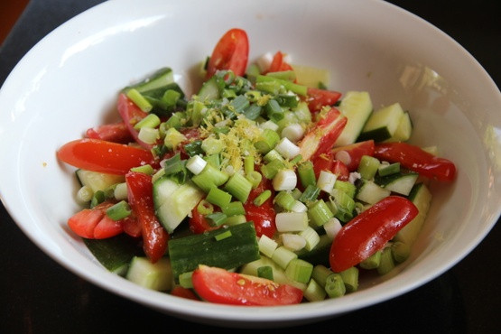 Indian Salad Recipes  East Indian Chopped Ve able Salad Recipe Low
