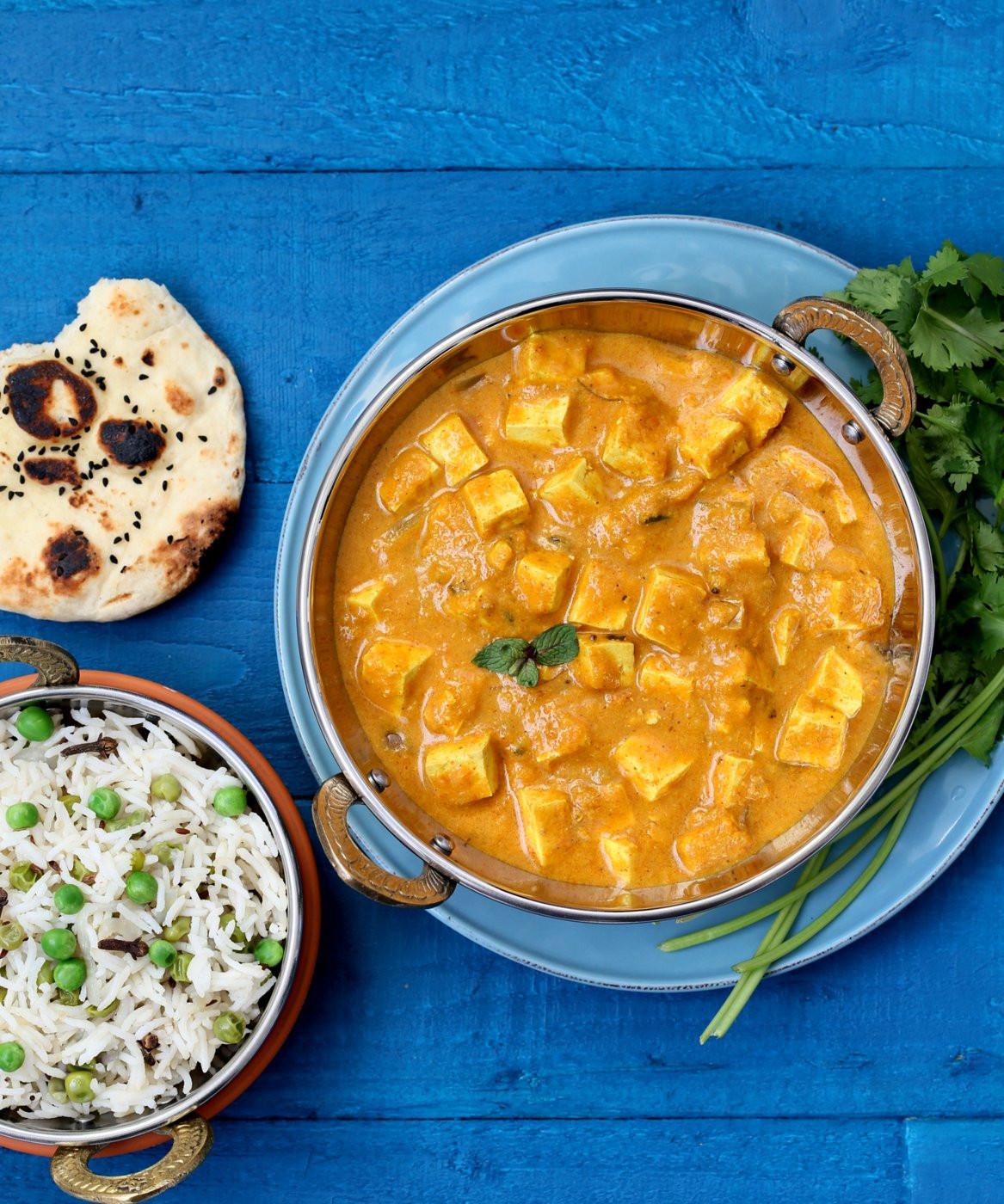 Indian Tofu Recipes  Mango Tofu Curry Vegan Richa's Indian Kitchen Giveaway