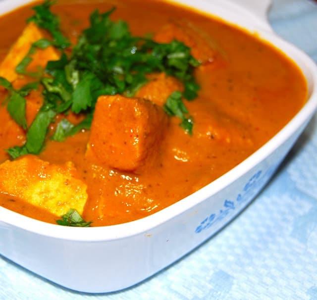 Indian Tofu Recipes  Tofu Makhani Curry