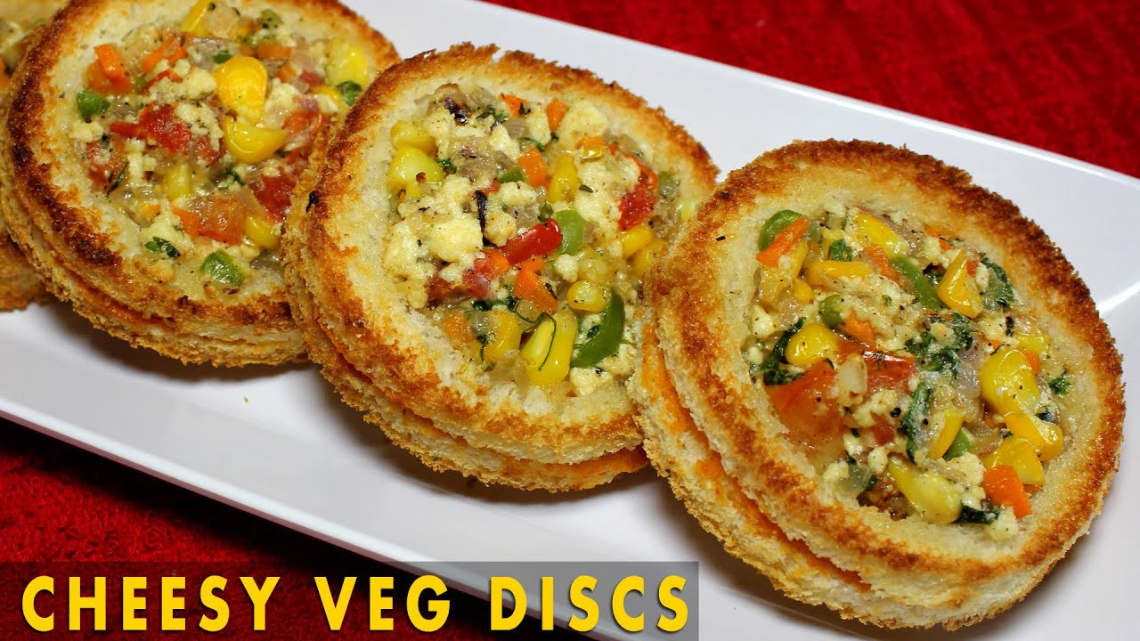 Indian Veg Appetizers  Cheesy Veg Disc Healthy Baked Appetizer