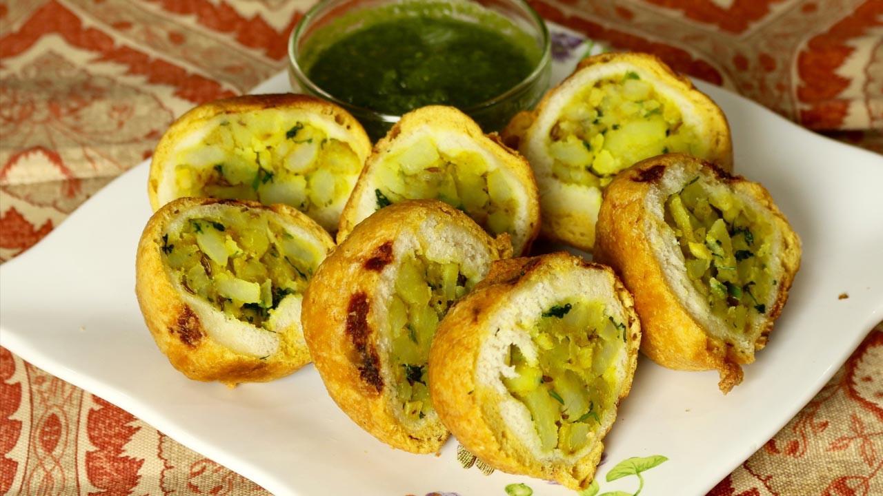 Indian Veg Appetizers  Aloo Potatoes Bread Pakora Manjula s Kitchen Indian