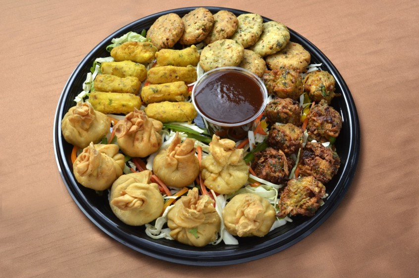 Indian Veg Appetizers  Ve arian Appetizer Platter