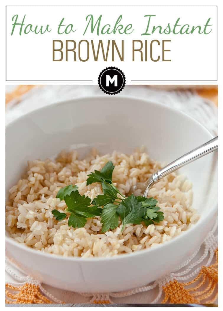 Instant Brown Rice  How to Make Instant Rice from Brown Rice Macheesmo