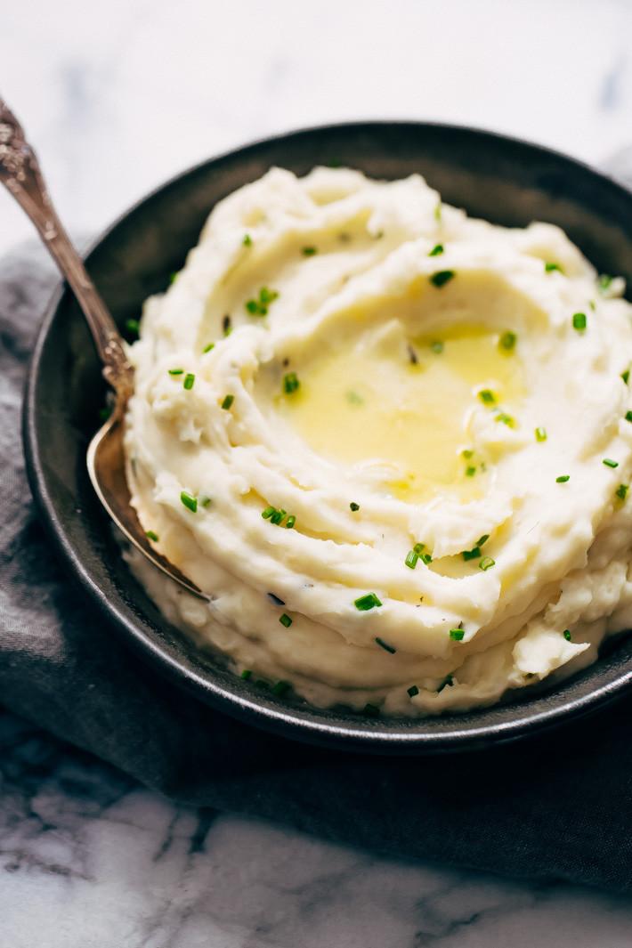 Instant Mashed Potatoes Recipe  20 Minute Garlic Herb Instant Pot Mashed Potatoes Recipe