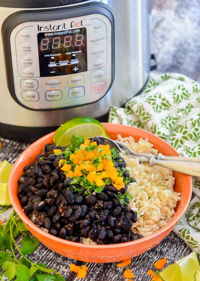 Instant Pot Bean Recipes  Seasoned Pressure Cooker Black Beans Instant Pot A