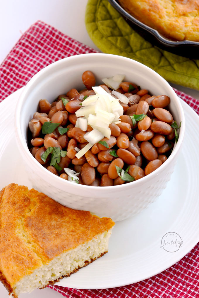 Instant Pot Bean Recipes  simple pinto beans and rice